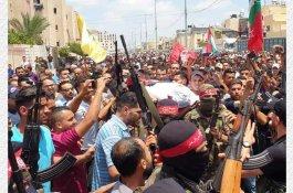 """جنازة المغدور """"جبر القيق"""" الذي قتل أمس الأحد برفح جنوب القطاع"""