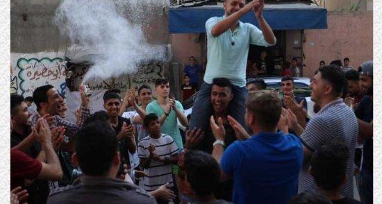 اجواء الفرح في قطاع غزة